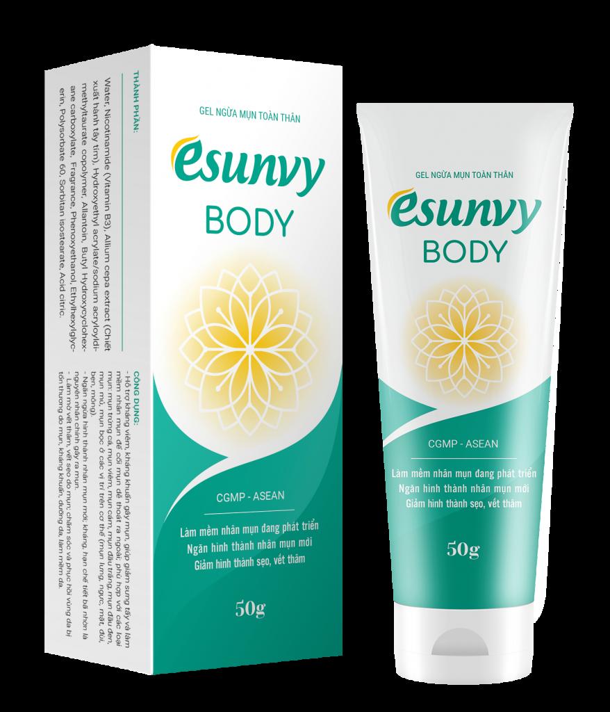 gel ngừa mụn toàn thân esunvy body tube 50gr